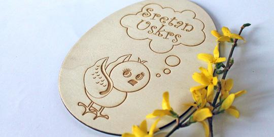 Kreativne drvene čestitke – Idealan poklon za uskrsne blagdane